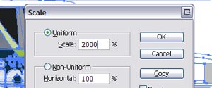 Adobe Illustrator scaling menu