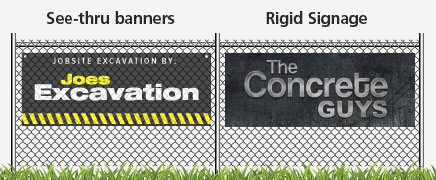 See-Thru and vinyl banners for your construction site. Langford's best and newest sign shop!