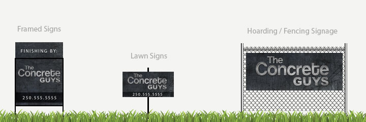 Construction Signage / Signs for your company - By the Sign Pad in Victoria, BC