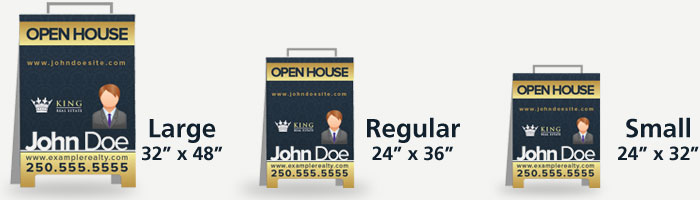 Sandwich Boards for Realtors - The best sign shop in Victoria, BC