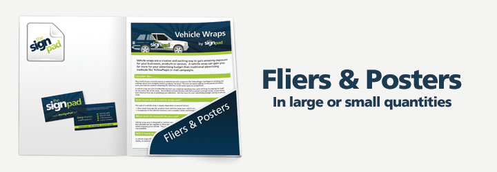 Fliers &amp; Posters (Design and printing) services by theSignPad in Victoria, BC
