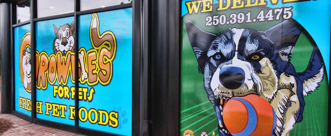 Growlies Storefront Graphics