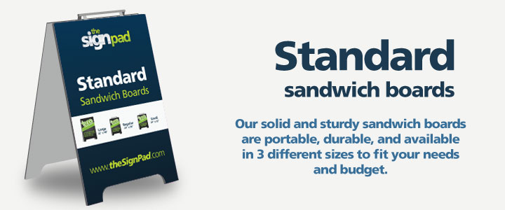 Sandwich boards (standard size) design and printing in Victoria, BC