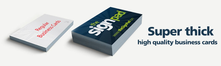 Ultra-Thick Business Cards by theSignPad in Victoria, BC