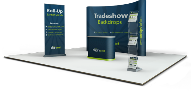 Trade Banner Stands : Trade show displays banner stands for your business