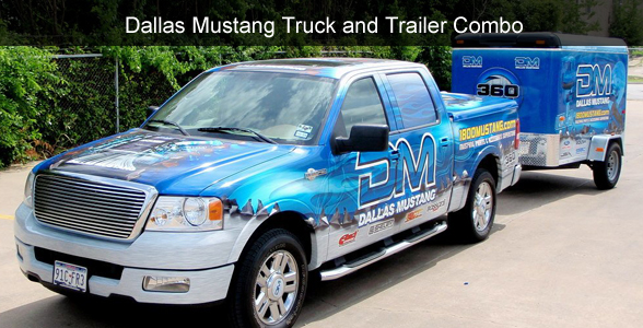 Dallas Mustang Truck and Trailer wrap