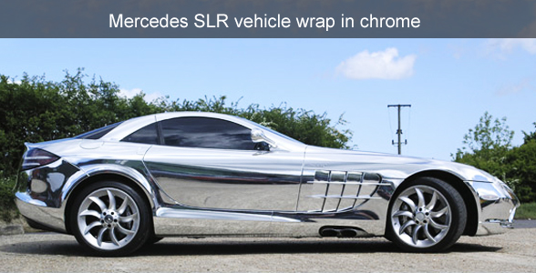 Mercedes SLR Chrome vehicle wrap