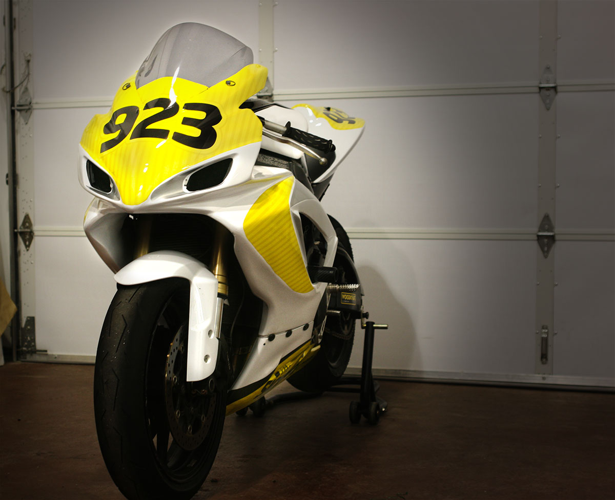 Beautiful Motorcycle wrap / graphics for local racer | The Sign Pad