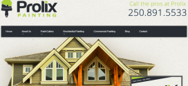 Prolix Painting Branding – Website, printing, signage & more