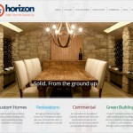 Horizon Contracting website and re-branding