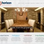 Horizon Contracting website and re-branding