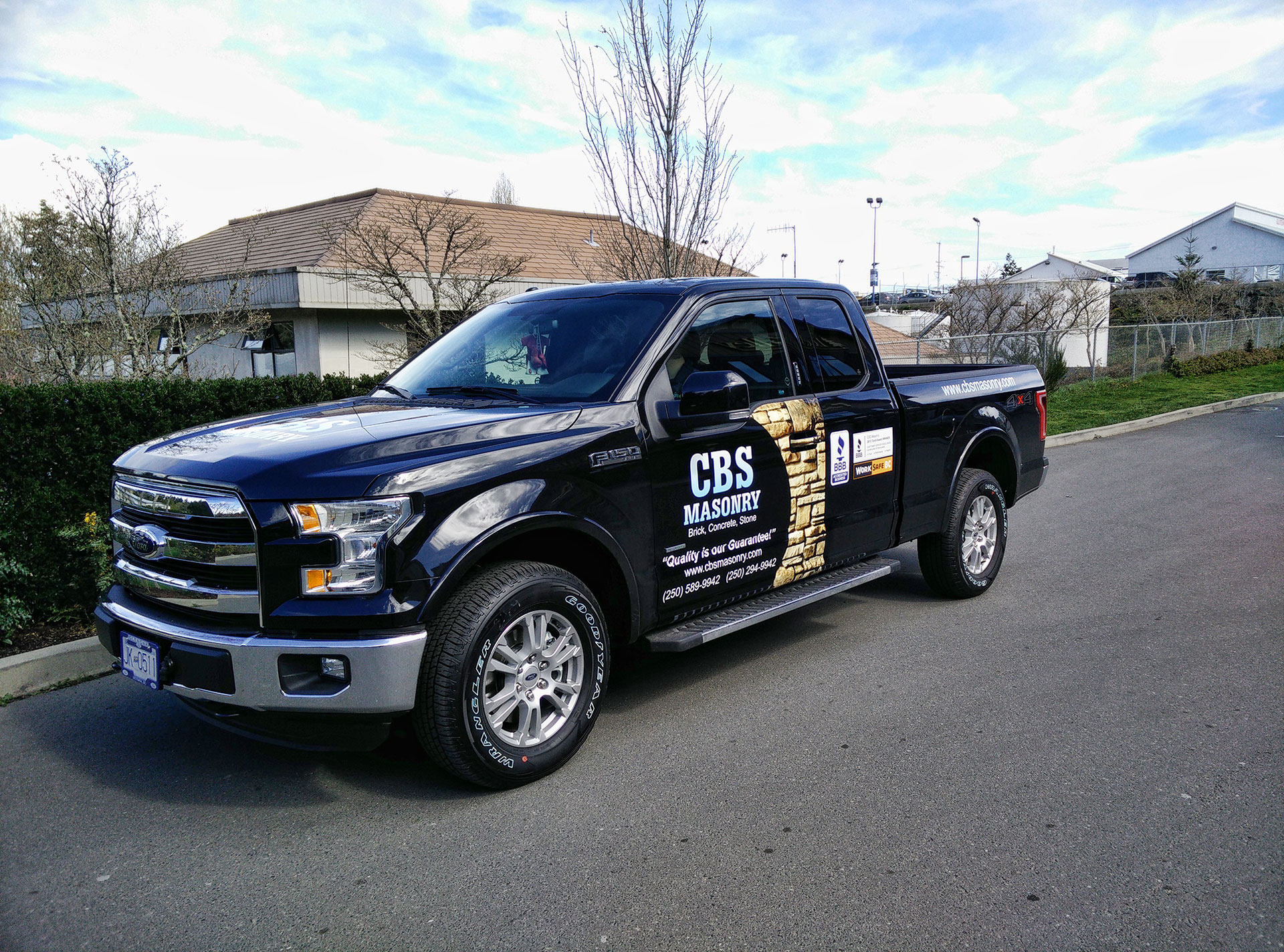 The new 2015 f150 and cbs masonry the sign pad