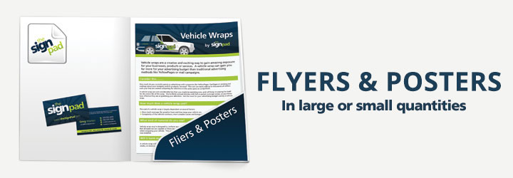 Fliers & Posters (Design and printing) services by theSignPad in Victoria, BC