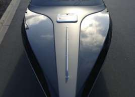 Matte silver and gloss black boat wrap