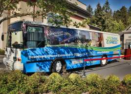 Westshore Express Bus Wrap for Wilsons Transportation
