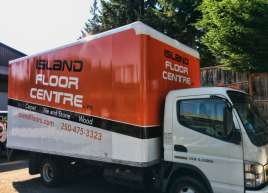 Island Floor Centre Fleet Wrap Cubevan