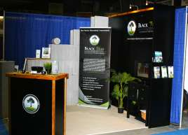 Victoria Black Tree Tradeshow Displays