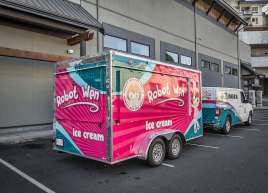Ice Cream Truck and Trailer Wrap for Robot Wen