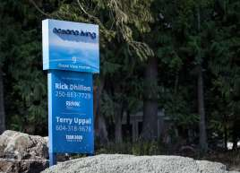 Custom Fabricated Sign for the new Oceana Living Development