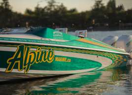 Boat wrap for Alpine Marine