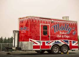 Trailer wrap for Molly's Fish & Chips