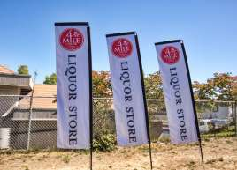 Rectangle Flags for 4 Mile Liquor Store