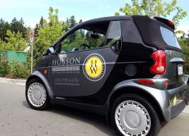 Smart Car Wrap for Hobson Woodworks