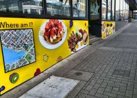 Textured wall graphics up for Cora's Victoria