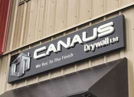 Canaus Drywall Store Front Signage