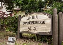 Cedar Sandblasted Signs for the Lavender Ridge housing co-op