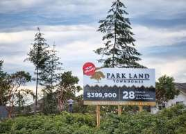 Custom Development Sign for Park Land Townhomes