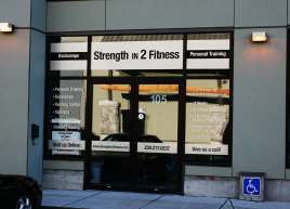 Strength in 2 Fitness Store Front Graphics