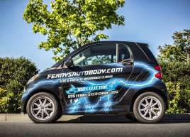 Full Smart Car Wrap for Fernys Autobody