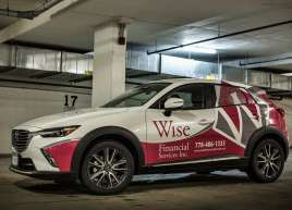 Wise Financial Vehicle Wrap