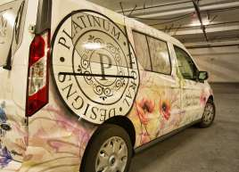 Transit Connect Wrap for Platinum Floral Designs