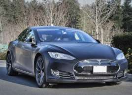 Brushed-Metallic-Black-Tesla=Wrap