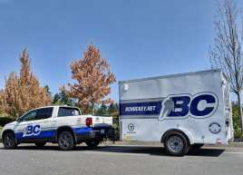 BC Hockey Truck and Trailer Wrap