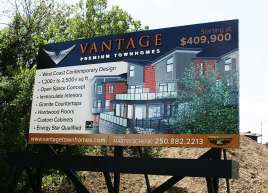 Vantage Townhomes Sign
