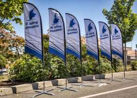 Feather Flags for BC Sailing Association