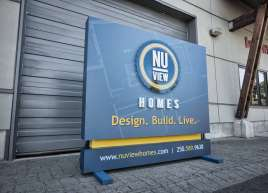 Custom Development Signage for NuView Homes
