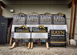 New custom signage for Lida Homes