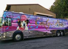 Tour Bus wrap for Pupstar Pictures Inc.