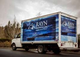 New Cube Van Wrap for Rayn Properties
