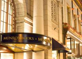 All new exterior signage for Munro's Books