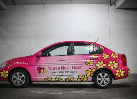 Nurse Next Door Car Wrap
