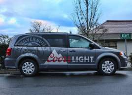 Coors Light Van Wrap