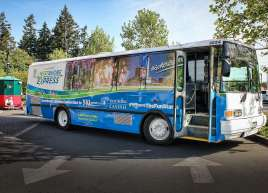 Westshore Express Bus Wrap for Wilson's Transportation