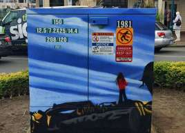 Hydro Box Wraps for the Town of Sidney