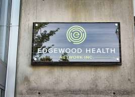 Custom Cedar Sign for Edgewood Health