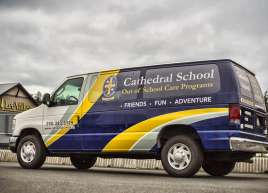Partial Van Wrap for Christ Church Cathedral School